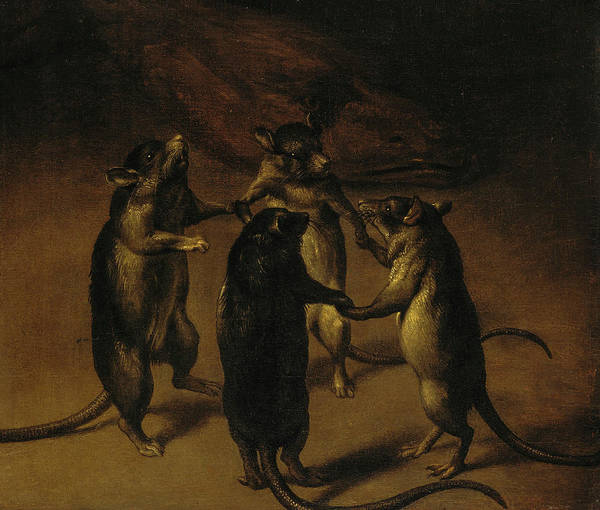 Vice Painting - The Dance Of The Rats, 1690 by Ferdinand van Kessel