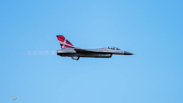 Photograph - The Danish F-16 Fighting Falcon In High Speed Action In Profile  by Torbjorn Swenelius