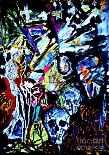 Painting - The Dead Among Us-1 by Katerina Stamatelos