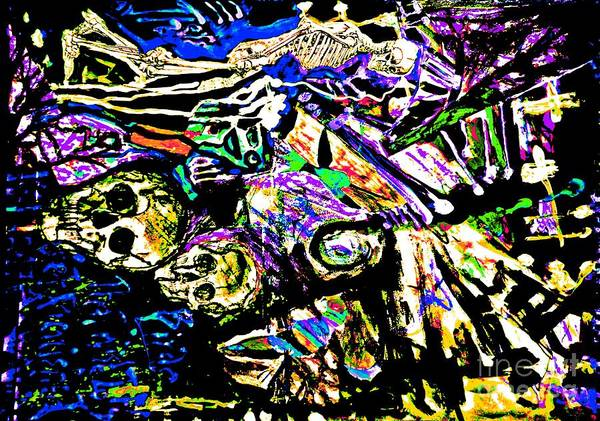 Painting - The Dead Among Us-3 by Katerina Stamatelos