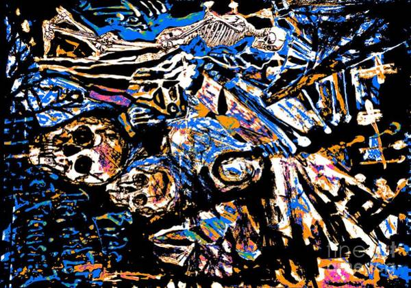 Painting - The Dead Among Us-7 by Katerina Stamatelos