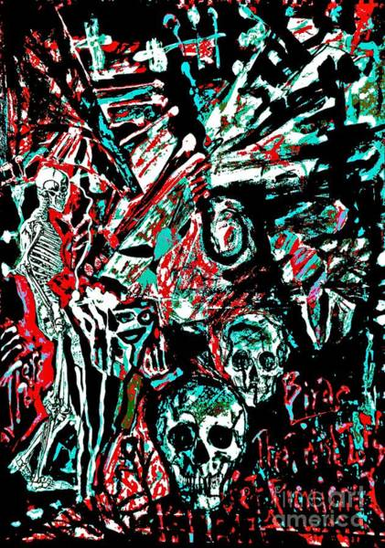Painting - The Dead Among Us-8 by Katerina Stamatelos