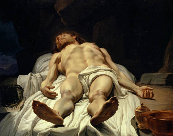 Wall Art - Painting - The Dead Body Of Christ, 1779 by Melchior Wyrsch