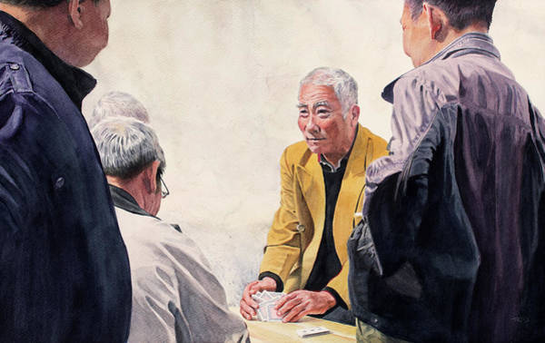 Painting - The Dealer by Christopher Reid