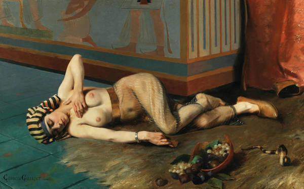 Wall Art - Painting - The Death Of Cleopatra by Georges Marie Julien Girardot