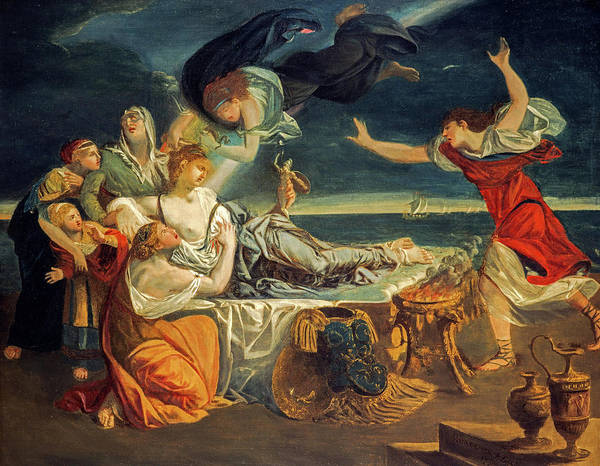 Wall Art - Painting - The Death Of Dido, 1778 by Alexander Runciman