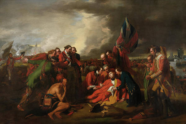 Wall Art - Painting - The Death Of General Wolfe, 1770 by Benjamin West