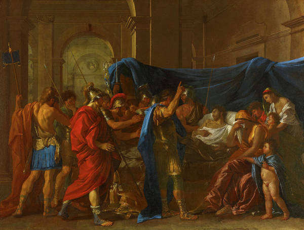 Wall Art - Painting - The Death Of Germanicus, 1627 by Nicolas Poussin