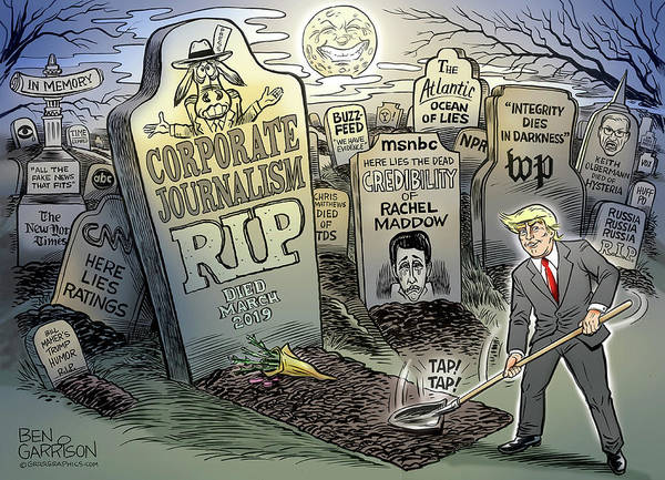Drawing - The Death Of Journalism by GrrrGraphics ART