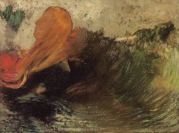 Ophelia Painting - The Death Of Ophelia, 1905 by Odilon Redon
