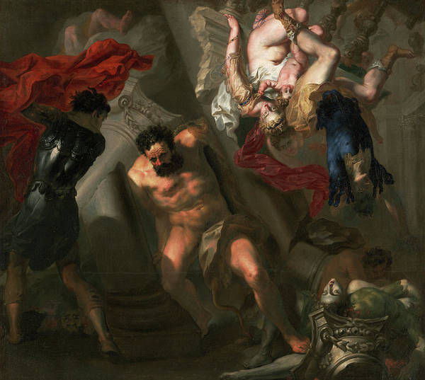 Wall Art - Painting - The Death Of Samson by Unknow artist