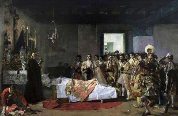 Matador Wall Art - Painting - The Death Of The Bullfighter by Jose Villegas Cordero