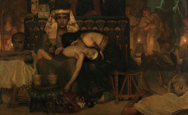 Wall Art - Painting - The Death Of The Pharaoh's Firstborn Son, 1872 by Lawrence Alma-Tadema