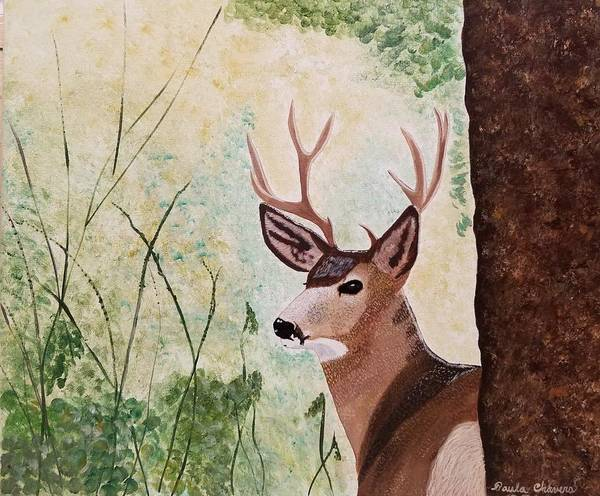 Payment Painting - The Deer by Paula Chavers