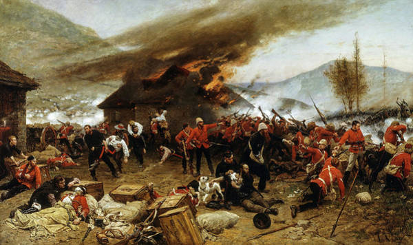 Wall Art - Painting - The Defence Of Rorke's Drift 1879, 1880 by Alphonse de Neuville