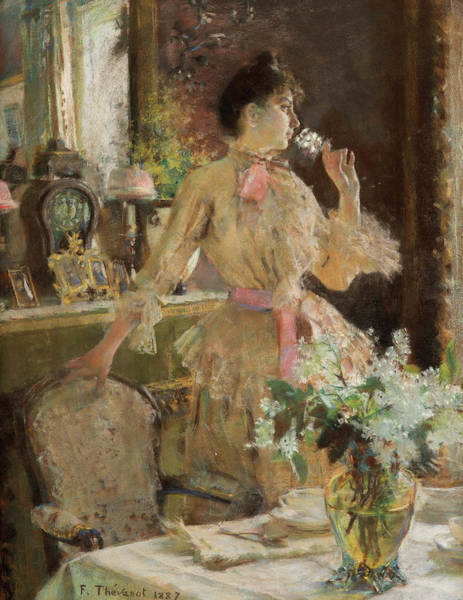 Nobility Painting - The Delicate Parfum by Francois Thevenot