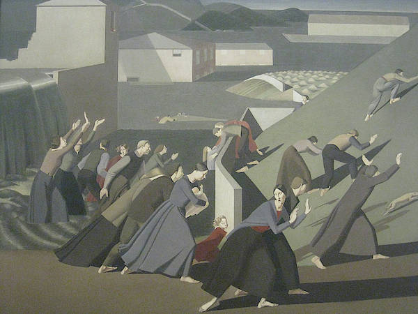 Wall Art - Painting - The Deluge by Winifred Knights
