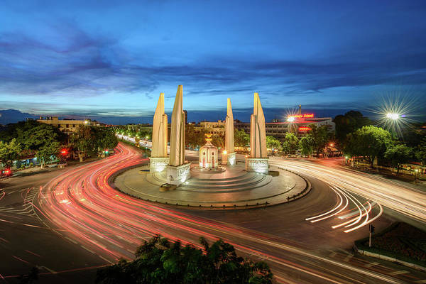 Democracy Photograph - The Democracy Monument by Thanapol Marattana