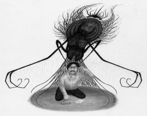 The Demon Left With Him... - Artwork Art Print