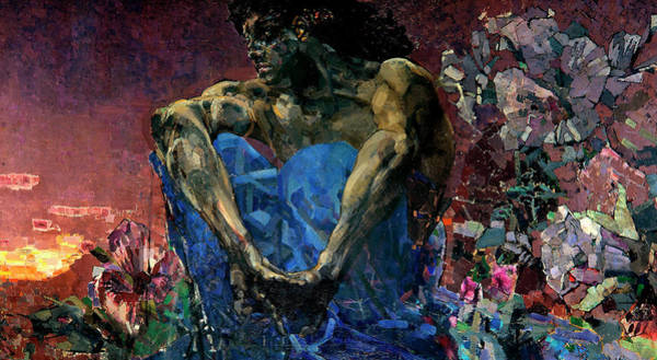 Satan Painting - The Demon Seated by Mikhail Vrubel