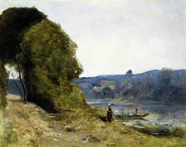 Wall Art - Painting - The Departure Of The Boatman - Digital Remastered Edition by Jean-Baptiste Camille Corot