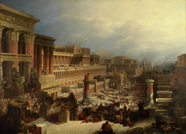 Wall Art - Painting - The Departure Of The Israelites by David Roberts