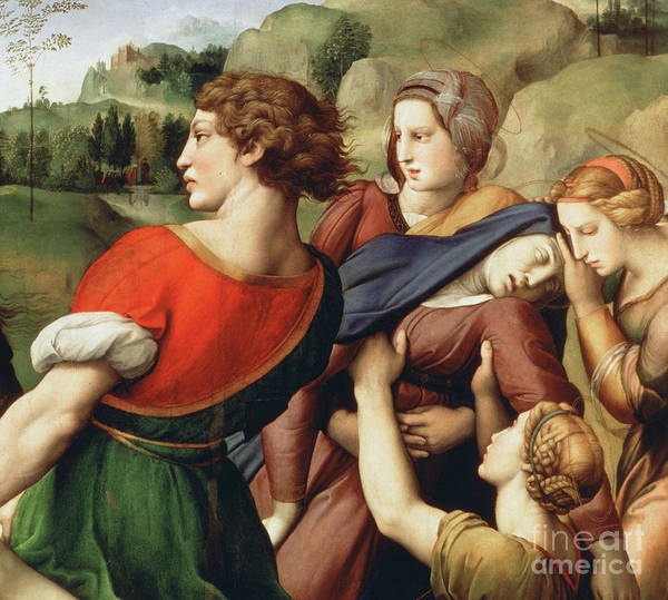 Wall Art - Painting - The Deposition, Detail, 1507 by Raphael