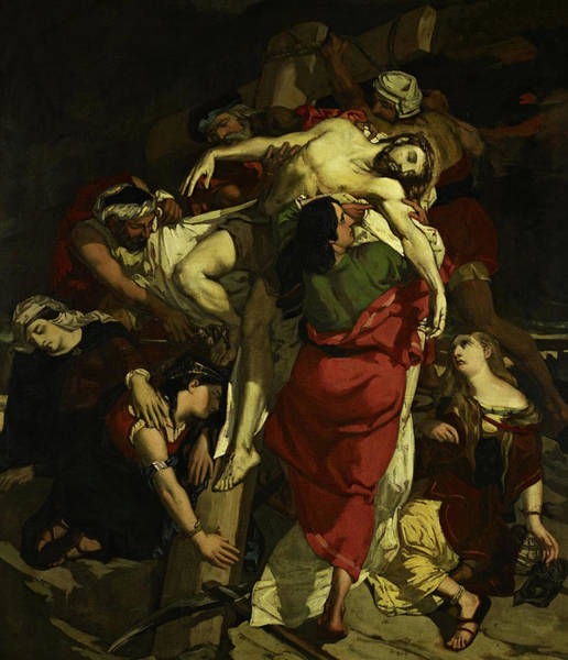 Creationism Wall Art - Painting - The Descent From The Cross, 1837 by David Scott