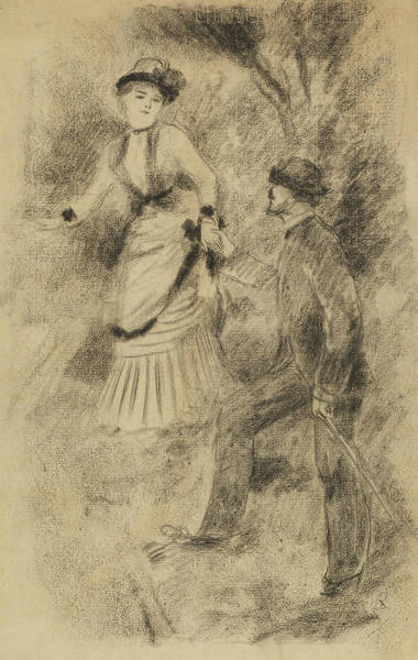 Drawing - The Descent From The Summit by Auguste Renoir