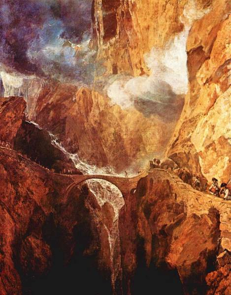 Serious Painting - The Devil's Bridge St.gotthard - Digital Remastered Edition by William Turner