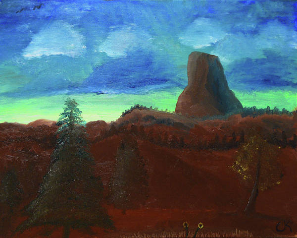 Painting - The Devil's Tower View by Chance Kafka