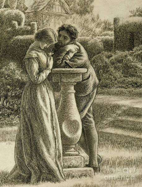 Wall Art - Drawing - The Dial, 19th Century by Arthur Hughes