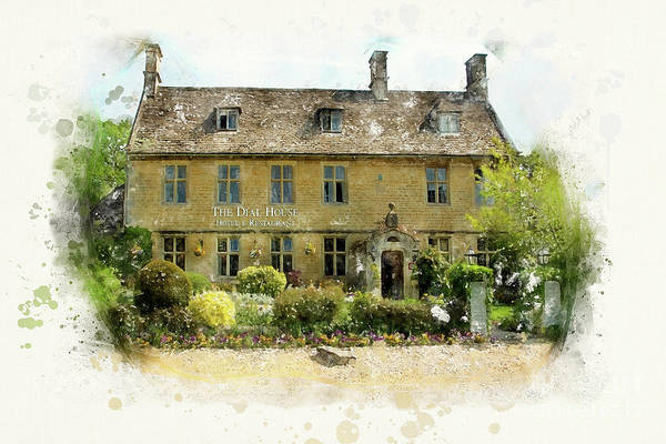 Wall Art - Painting - The Dial House, Bourton-on-the-water by John Edwards