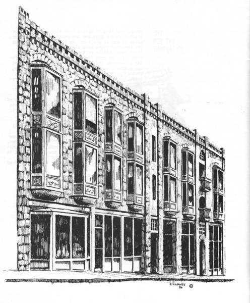Drawing - The Diamond Block Helena Montana by Kevin Heaney