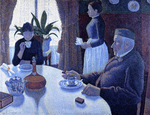 Neo-impressionism Wall Art - Painting - The Dining Room - Digital Remastered Edition by Paul Signac