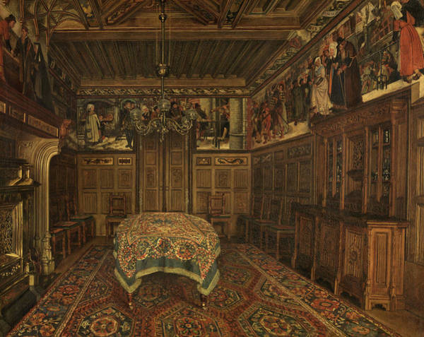 Wall Art - Painting - The Dining Room In The Home Of The Painter Henri Leys by Henri De Braekeleer