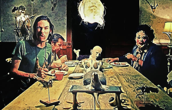 Serial Killer Painting - The Dinner Scene - Texas Chainsaw by Zapista Zapista
