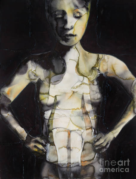 Wall Art - Painting - The Dirty Yellow Series Inside Figure  by Graham Dean