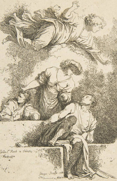 Relief - The Disciples At The Tomb by Jean-Honore Fragonard