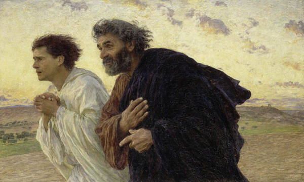 Wall Art - Painting - The Disciples Peter And John Running To The Sepulchre On The Morning Of The Resurrection, 1898 by Eugene Burnand