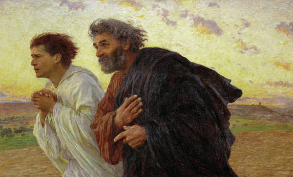 Wall Art - Painting - The Disciples Peter And John Running To The Tomb On The Morning Of The Resurrection, 1898 by Eugene Burnand