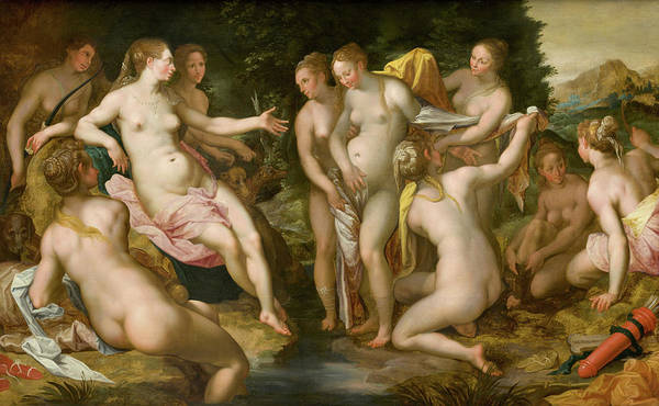 Pregnancy Painting - The Discovery Of Callisto's Pregnancy by Hendrick Goltzius