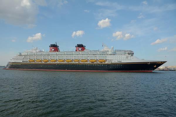 Photograph - The Disney Wonder Underway by Bradford Martin