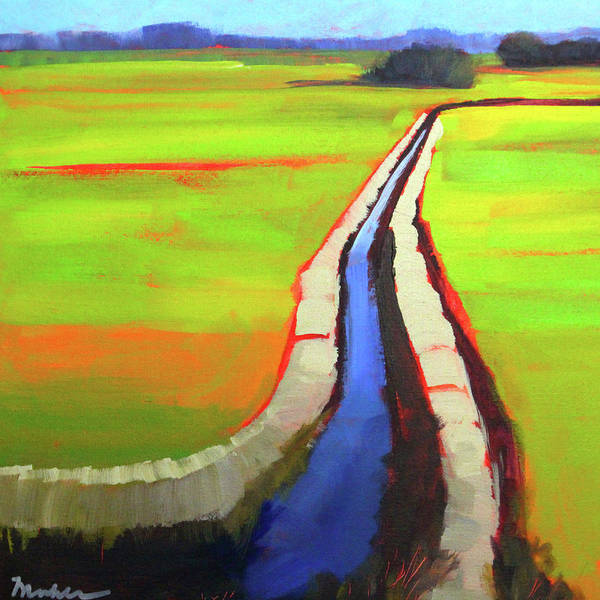 Wall Art - Painting - The Ditch by Nancy Merkle