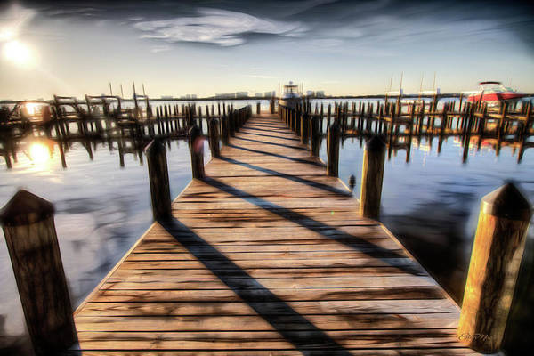 Digital Art - The Dock 013 - Digital Art by Ericamaxine Price