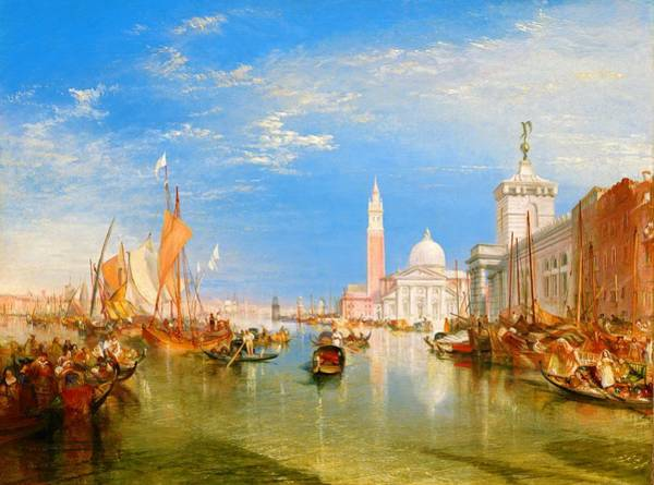 Wall Art - Painting - The Dogana And San Giorgio Maggiore - Digital Remastered Edition by William Turner