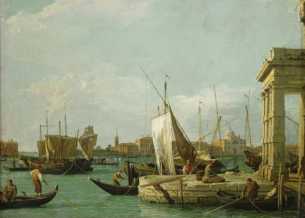Payment Painting - The Dogana In Venice, Around 1730 Canvas, 46 X 63,4 Cm Inv. 6331. by Canaletto -1697-1768-