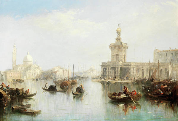 Wall Art - Painting - The Dogana With San Giorgio Maggiore Beyond, Venice by Edward Pritchett