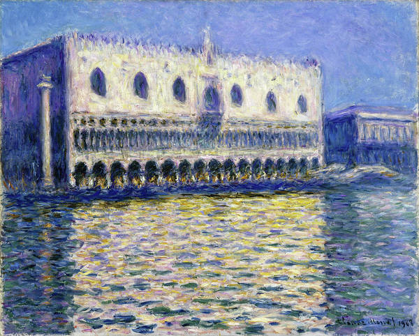 Wall Art - Painting - The Doges Palace, Le Palais Ducal - Digital Remastered Edition by Claude Monet