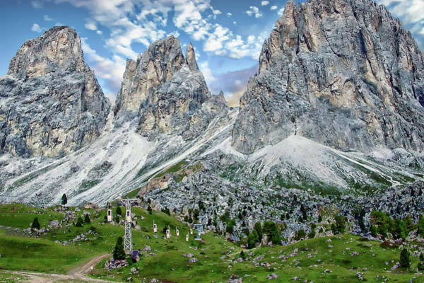 Photograph - The Dolomites by Anthony Dezenzio